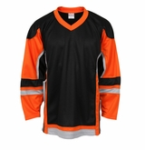 Firstar Stadium Hockey Jersey - Black/Orange/Gray
