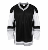 Firstar Stadium Hockey Jersey - Black/White/Gray