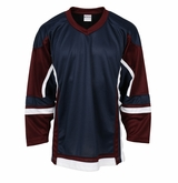 Firstar Stadium Hockey Jersey - Navy/Maroon/White