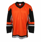 Firstar Stadium Hockey Jersey - Orange/Black/Gray