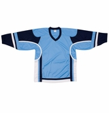 Firstar Stadium Hockey Jersey - Powder Blue/Navy/White