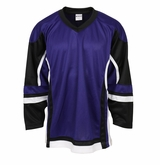 Firstar Stadium Hockey Jersey - Purple/Black/White