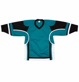 Firstar Stadium Hockey Jersey - Teal/Black/White