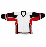 Firstar Stadium Hockey Jersey - White/Black/Red