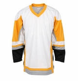 Firstar Stadium Hockey Jersey - White/Gold/Gray