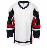 Firstar Stadium Hockey Jersey - White/Navy/Red