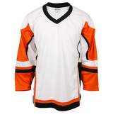 Firstar Stadium Hockey Jersey - White/Orange/Black