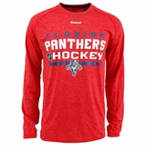 Florida Panthers Reebok Center Ice Locker Room Sr. Long Sleeve Performance Shirt