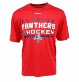 Florida Panthers Reebok Center Ice Locker Room Sr. Short Sleeve Performance Shirt