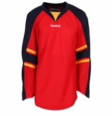 Florida Panthers Reebok Edge Gamewear Uncrested Junior Hockey Jersey