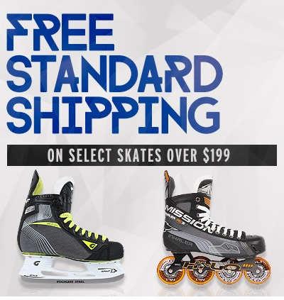 Free Standard Shipping on Select Skates over $199.00