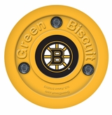 Green Biscuit Boston Bruins Training Puck