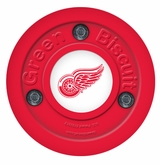 Green Biscuit Detroit Red Wings Training Puck