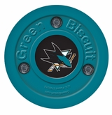 Green Biscuit San Jose Sharks Training Puck