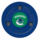 Green Biscuit Vancouver Canucks Training Puck