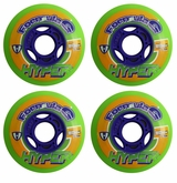 Hyper Formula G 74A Inline Hockey Wheel - Green - 4 Pack