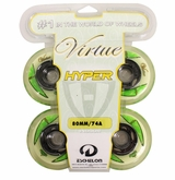Hyper Virtue 74A Inline Hockey Wheel - White - 4 Pack