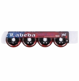 Labeda Addiction XXX 76A Inline Hockey Wheel - Red/Black - 4 Pack