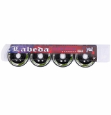 Labeda Addiction XXX 76A Inline Hockey Wheel - White/Green - 4 Pack