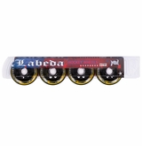 Labeda Addiction XXX 76A Inline Hockey Wheel - Yellow/Black - 4 Pack