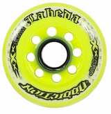 Labeda Addiction XXX 78A Inline Hockey Wheel - White/Neon Yellow