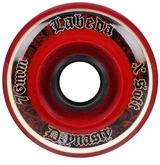 Labeda Dynasty III X-Soft 74A Roller Hockey Wheel - Black/Red
