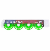 Labeda Dynasty III X-Soft 74A Roller Hockey Wheel - Green - 4 Pack