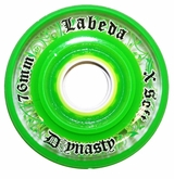 Labeda Dynasty III X-Soft 74A Inline Hockey Wheel - Green