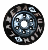 Labeda Fuzion X-Soft 74A Inline Hockey Wheel - Black - Mini 688 Core
