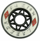 Labeda Fuzion X-Soft 74A Inline Hockey Wheel - White/Black - 608 Core