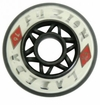 Labeda Fuzion X-Soft 74A Roller Hockey Wheel - White/Black - 608 Core