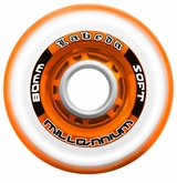 Labeda Gripper Millennium Soft 76A Roller Hockey Wheel - Clear/Orange