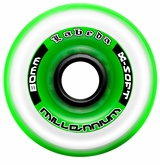 Labeda Gripper Millennium X-Soft 74A Inline Hockey Wheel - Clear/Green