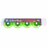 Labeda Gripper Millennium X-Soft 74A Inline Hockey Wheel - Clear/Green - 4 Pack