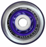 Labeda Gripper Millennium X-Soft 74A Inline Hockey Wheel - Clear/Purple - Standard 608 Core