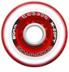 Labeda Gripper Millennium X-Soft 74A Inline Hockey Wheel - Clear/Red