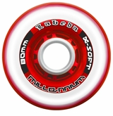 Labeda Gripper Millennium X-Soft 74A Roller Hockey Wheel - Clear/Red