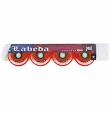 Labeda Gripper Millennium X-Soft 74A Inline Hockey Wheel - Clear/Red - 4 Pack