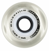 Labeda Gripper Millennium X-Soft 74A Roller Hockey Wheel - Clear/White