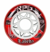 Labeda Gripper RPG X-Soft 74A Inline Hockey Wheel - Red/White