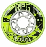 Labeda Gripper RPG X-Soft 74A Roller Hockey Wheel - Neon Yellow/White