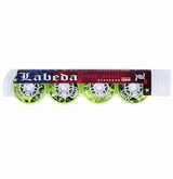 Labeda Gripper RPG X-Soft 74A Roller Hockey Wheel - Neon Yellow/White - 4 Pack