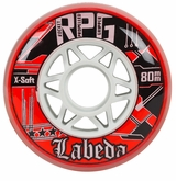 Labeda Gripper RPG X-Soft 74A Roller Hockey Wheel - Red/White