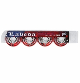 Labeda Gripper RPG X-Soft 74A Inline Hockey Wheel - Red/White - 4 Pack