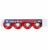 Labeda Gripper X-Soft 74A Roller Hockey Wheel - Red/White - 4 Pack