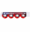 Labeda Gripper X-Soft 74A Inline Hockey Wheel - Red/White - 4 Pack