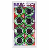 Labeda Shooter Medium 78A Roller Hockey Wheel - Green - 8 Pack