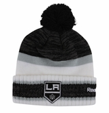 Los Angeles Kings Reebok Center Ice Men's Team Cuffed Pom Knit Beanie