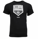 Los Angeles Kings Reebok Face-Off Carbon Logo Sr. Short Sleeve Tee Shirt