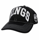 Los Angeles Kings Reebok Face-Off Men's Wordmark Structured Adjustable Cap